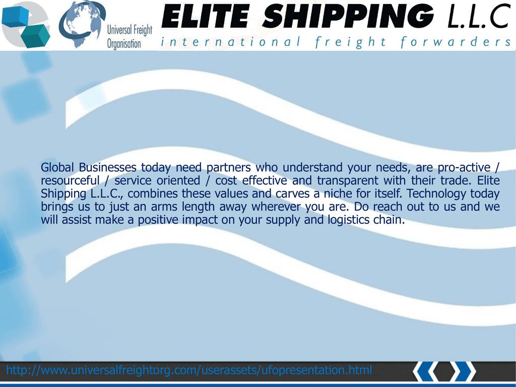 PPT Format - Elite Shipping