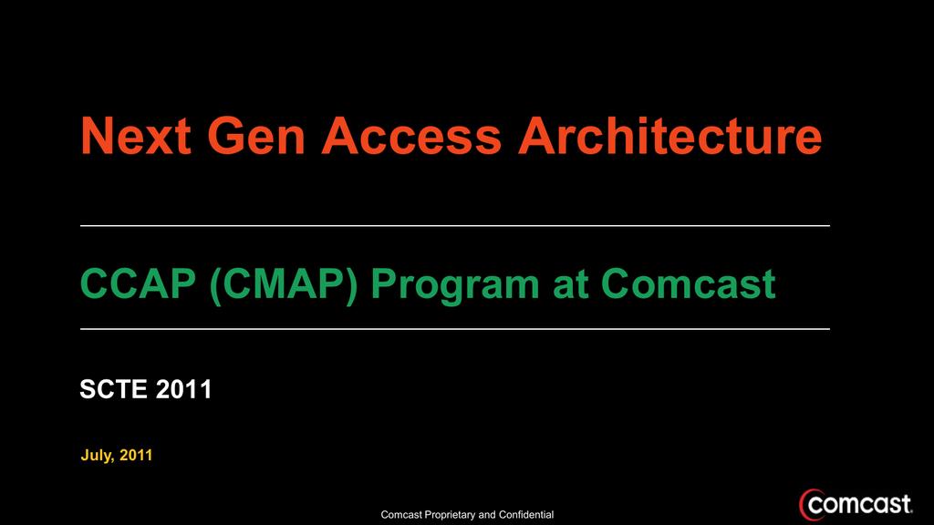 Comcast CCAP on