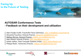 AUTOSAR Conformance Tests - TTCN-3