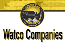 Spotlight on Watco Companies