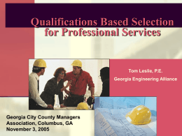 Qualifications Based Selection for Professional