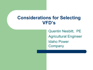 Considerations for Selecting Variable Frequency Drives