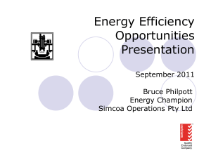PPT 2.6MB - Energy Efficiency Opportunities