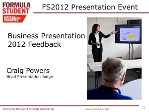 Business Presentation Debrief 2012
