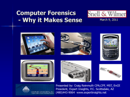 Expert Insights, Computer Forensics
