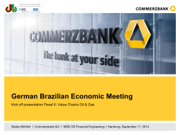 Commerzbank AG Style guide for Powerpoint
