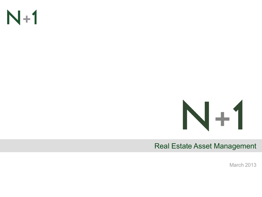 N+1 real estate investment management good place to invest today in fl
