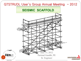 guidelines for seismic scaffold