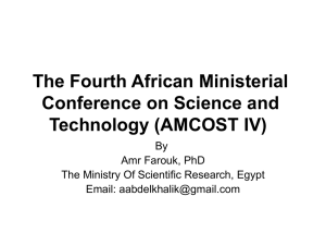 The Fourth African Ministerial Conference on Science and Technology