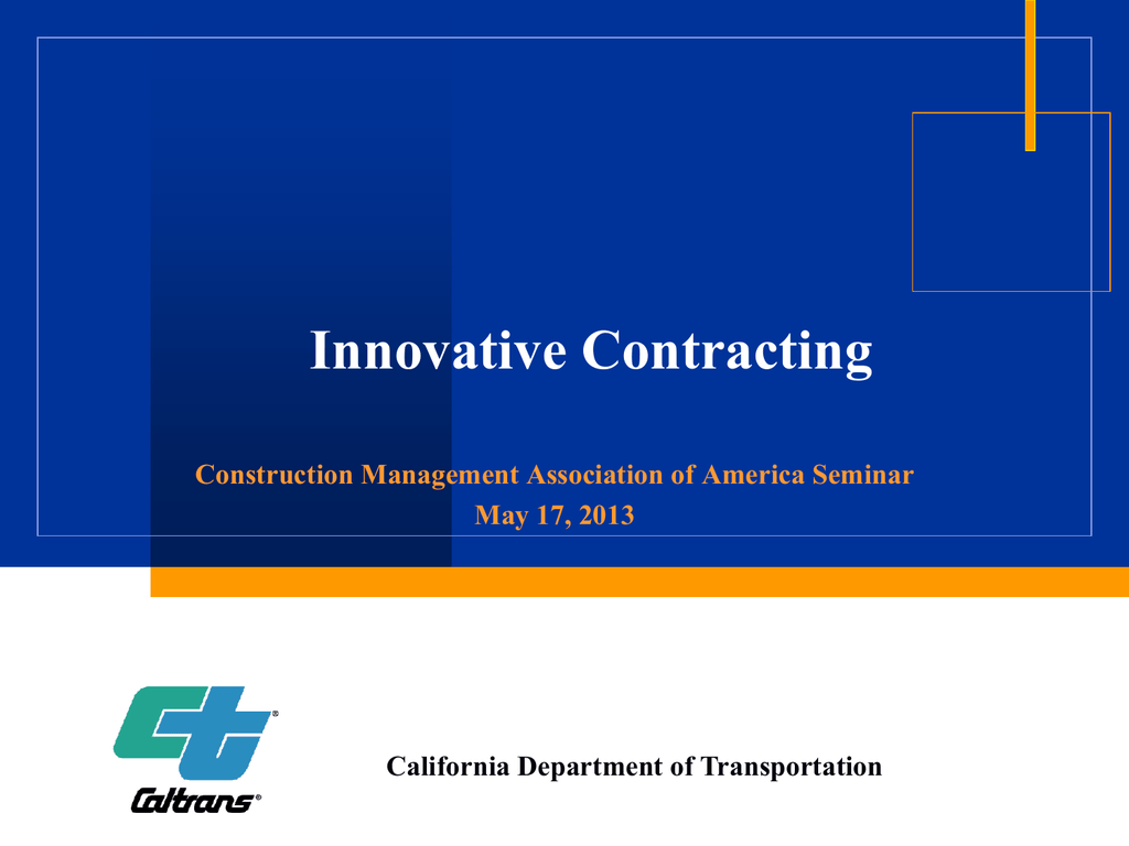 Presented by CALTRANS