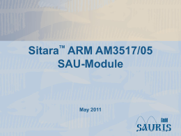 SitaraTM ARM AM3517/05 SAU