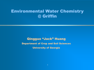 Dr. Jack Huang - Department of Crop and Soil Sciences