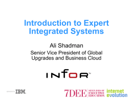 Introduction to Expert Integrated Systems