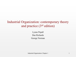 EC 170: Industrial Organization