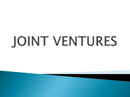JOINT VENTURES - Savannah Post SAME