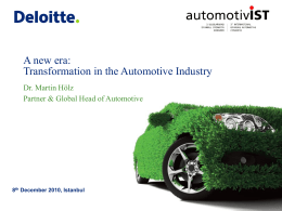 Transformation in Automotive Industry