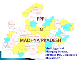 PPP - Madhya Pradesh Road Development Corporation Limited