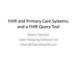 FHIR in Primary Care