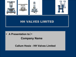 HH VALVES LIMITED - Flow and Control