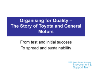 The Story of Toyota and General Motors