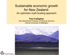 NZ Business/ Sir Paul Callaghan File