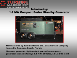 1.1 MW Compact Series Standby Generator One of