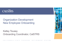 2014 ASTD Roadshow ONBOARDING EMPLOYEES