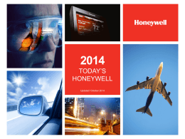 Today`s Honeywell - isoc