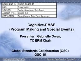 ETSI Cognitive-PMSE - GSC-15
