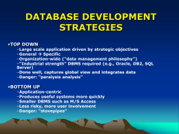 DATABASE DEVELOPMENT STRATEGIES