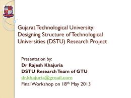 Designing Structure of Tech Uni