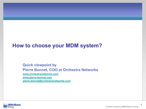 In six slides: how to choose your MDM?