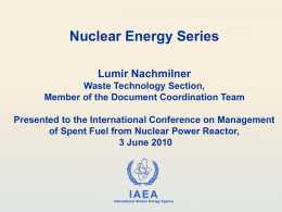 Nuclear Energy Series Documents