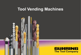 Tool Vending Machines