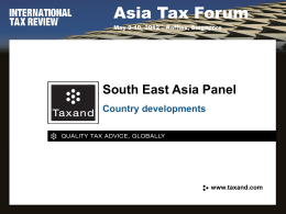 South-East Asia Focus: Dealing with developing tax systems
