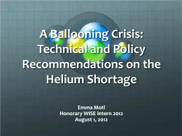 A Ballooning Crisis: Technical and Policy Recommendations on the