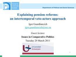 EU and supplementary pensions: Instruments for integration