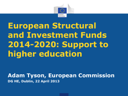 European Structural and Investment Funds 2014