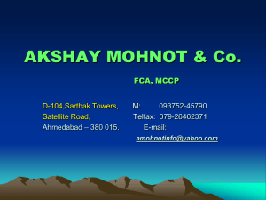 A Mohnot & Co. - The Institute of Chartered Accountants of India
