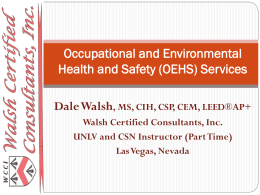 WCCI Services - Walsh Certified Consultants, Inc.