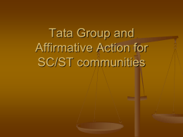 Tata Group and Affirmative Action for SC/ST communities