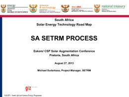 Solar Energy Technology Road Map