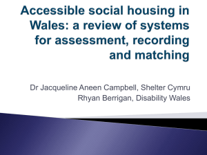 Accessible social housing in Wales: a review of systems