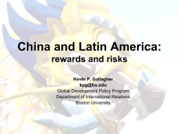 The Dragon in the Room: China and the Future of Latin American