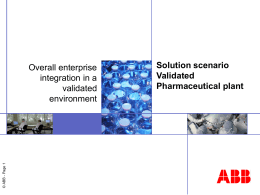 Solution example in Pharma industry