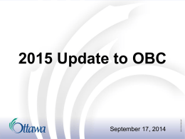 2015 Update to the Ontario Building Code