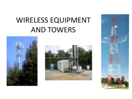 CELLULAR EQUIPMENT AND CELL TOWERS