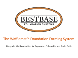 On-grade Mat Foundation for Expansive Soils