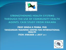 Strengthening Health Systems Through the Use of Community