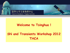 Welcome to Tsinghua ! SN and Transients
